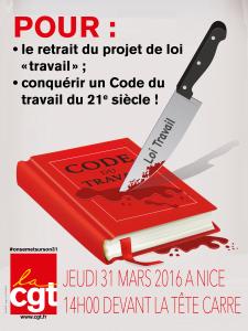 Affiche30x40 Code travail 31 MARS