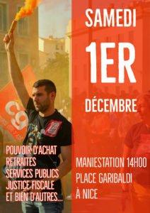 Le 1er Décembre: Tous ensemble Pour augmenter les salaires, les pensions et gagner sur les revendications ! @ place Garibaldi   Nice   Provence-Alpes-Côte d'Azur   France